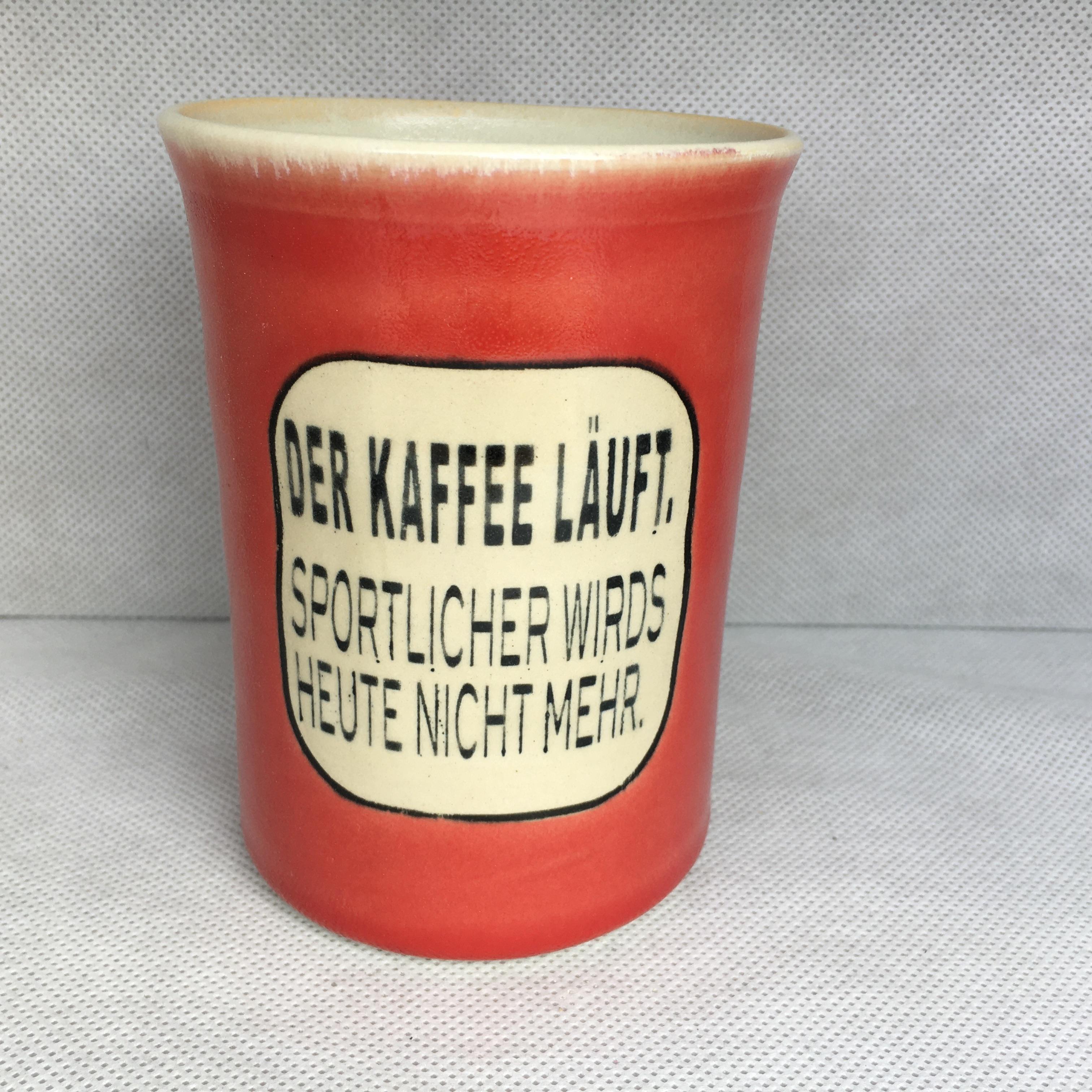 Der Kaffe läuft, sportlicher wirds heute nicht mehr