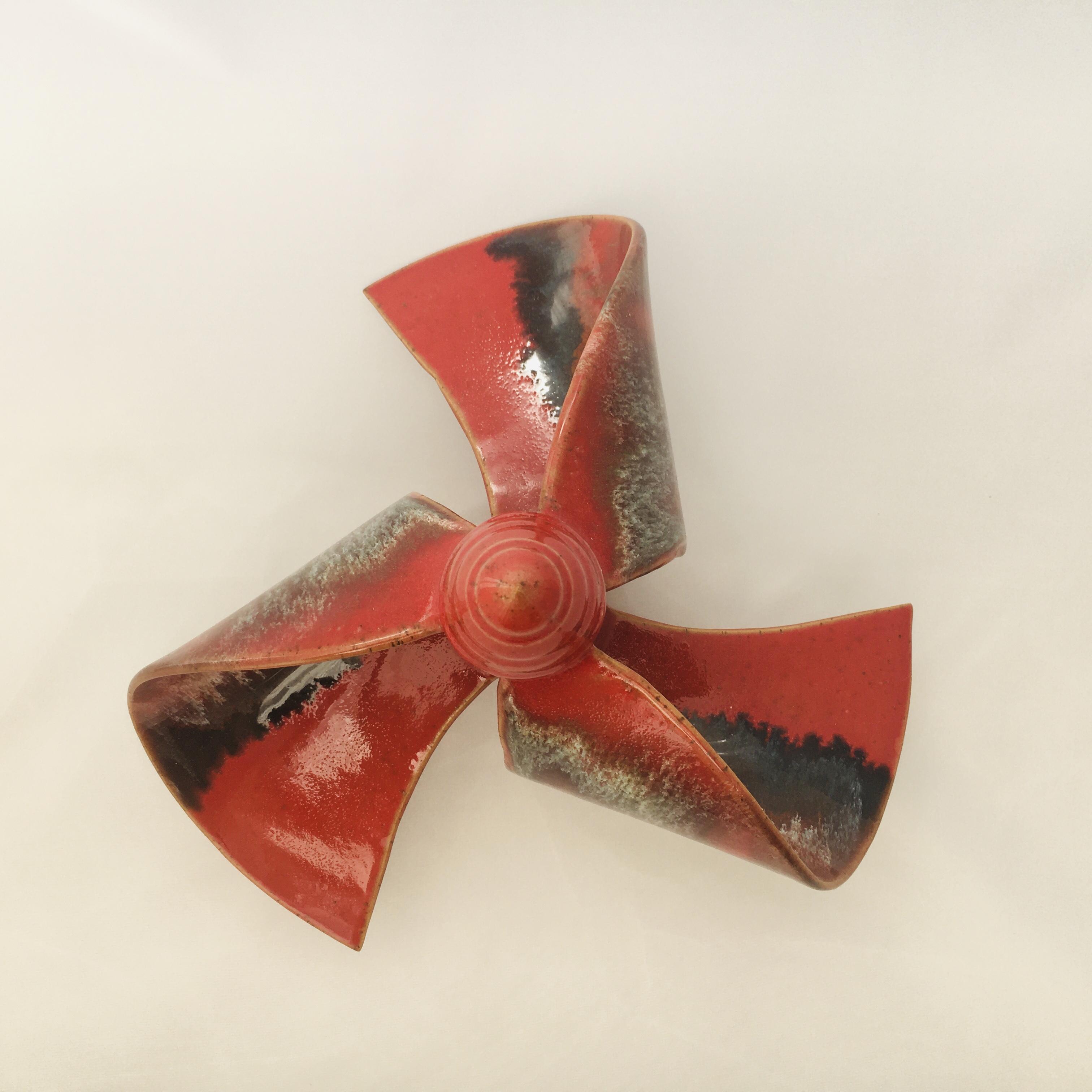 Windmühle stehend rot