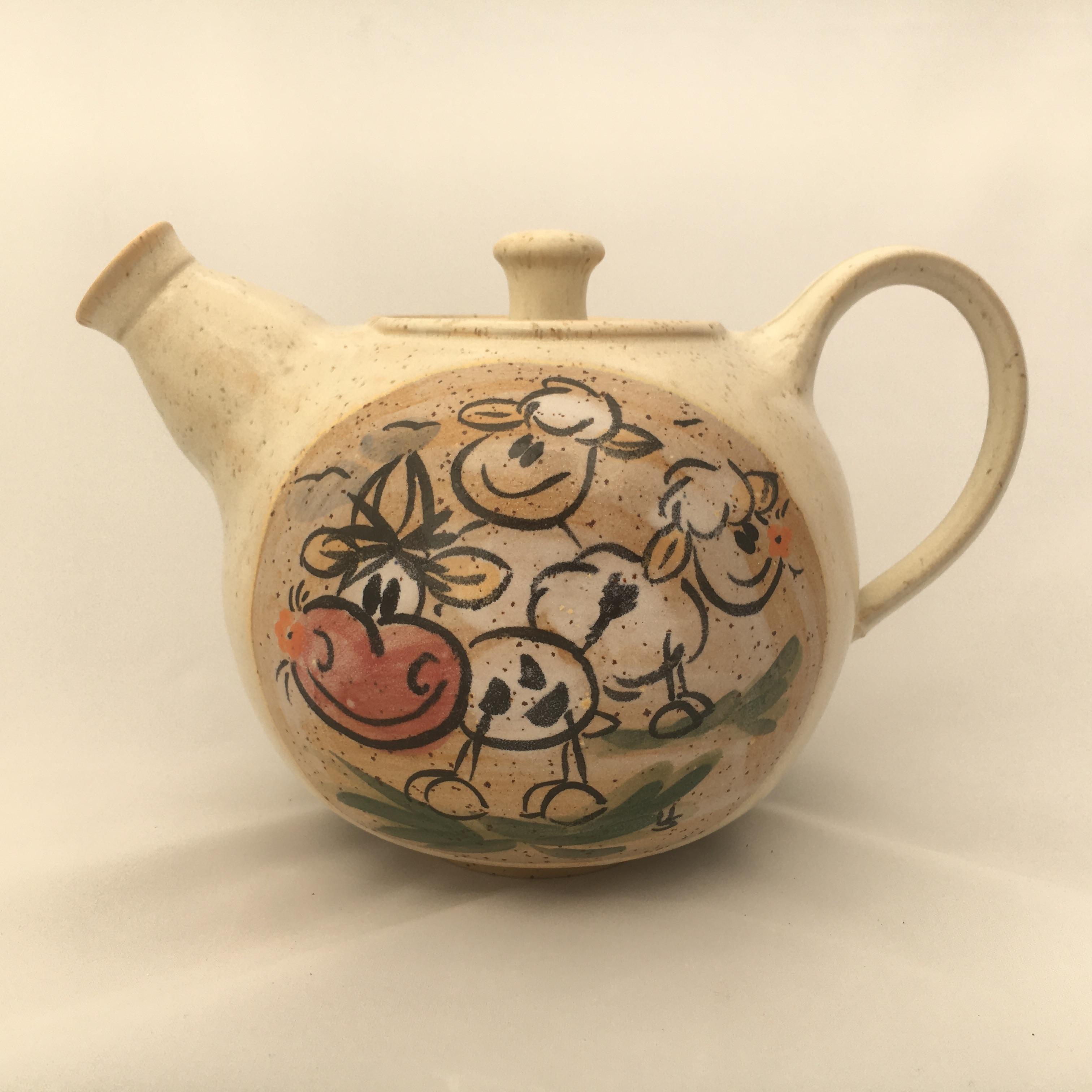 Teekanne Kuh/ Schaf