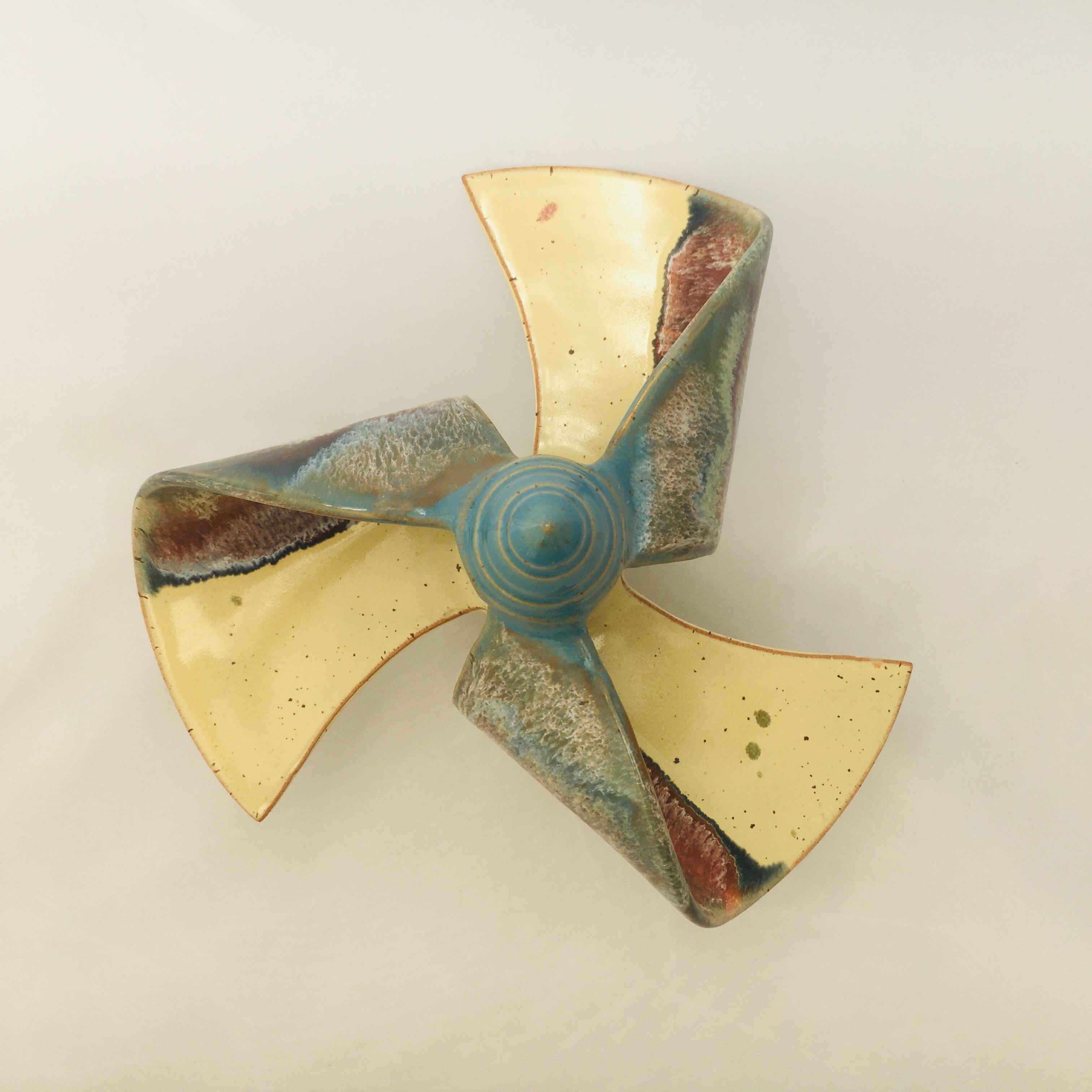 Windmühle stehend gelb/ türkis