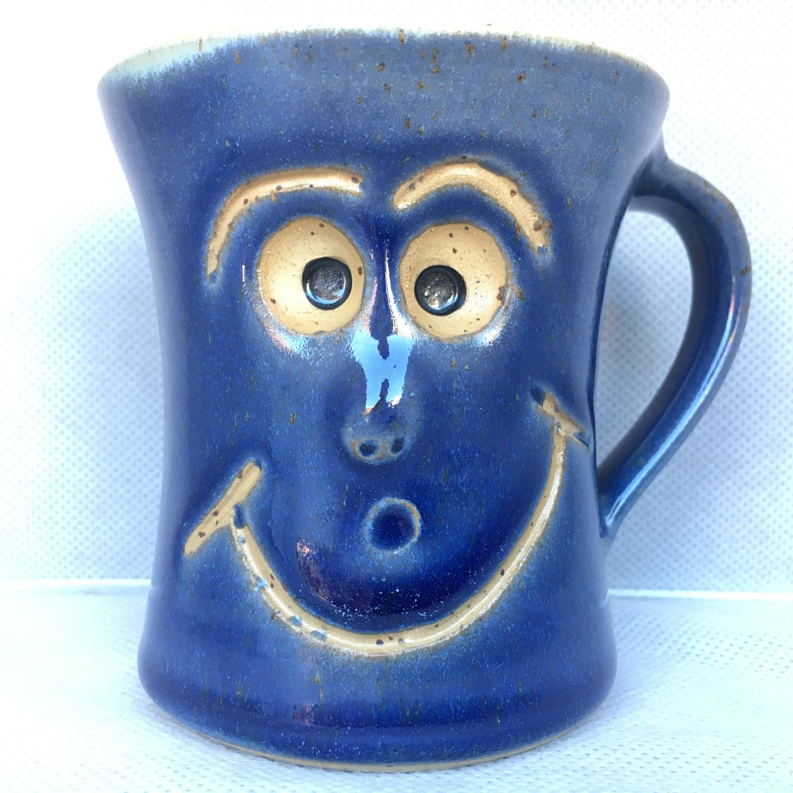 Schmunzel Tasse Blau