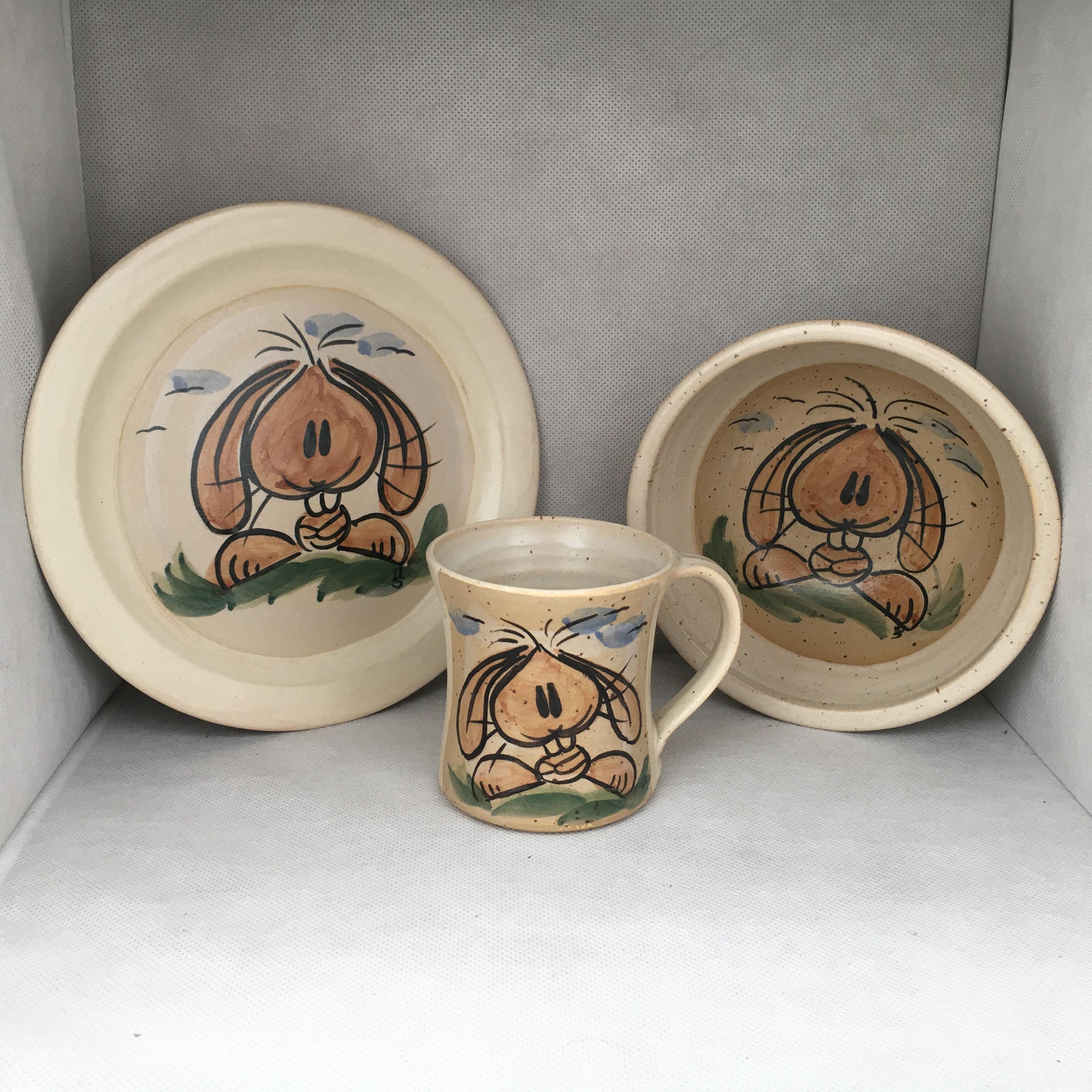 Hase SET: Tasse-Teller-Müslischale
