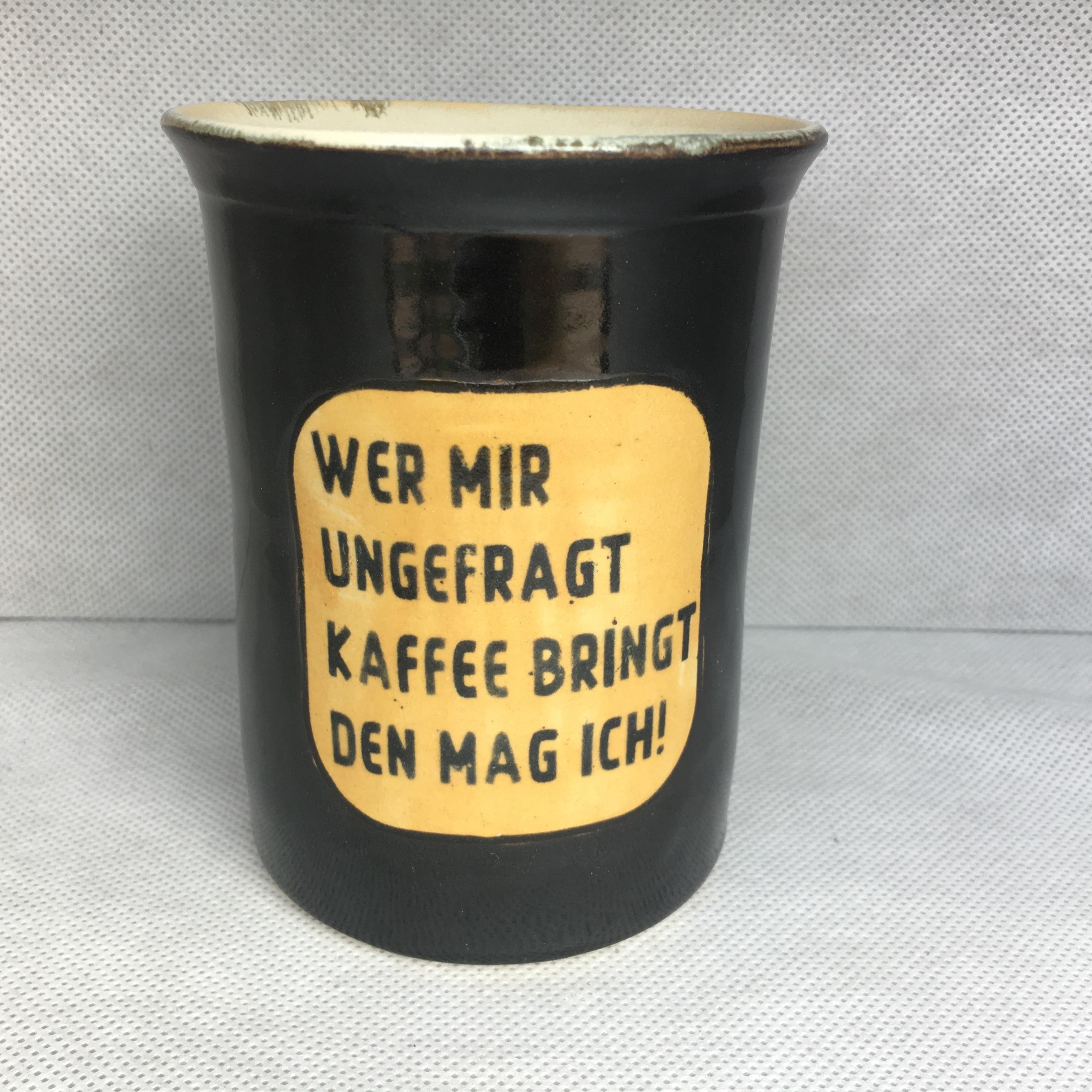 Wer mir ungefragt Kaffee bringt den mag ich!