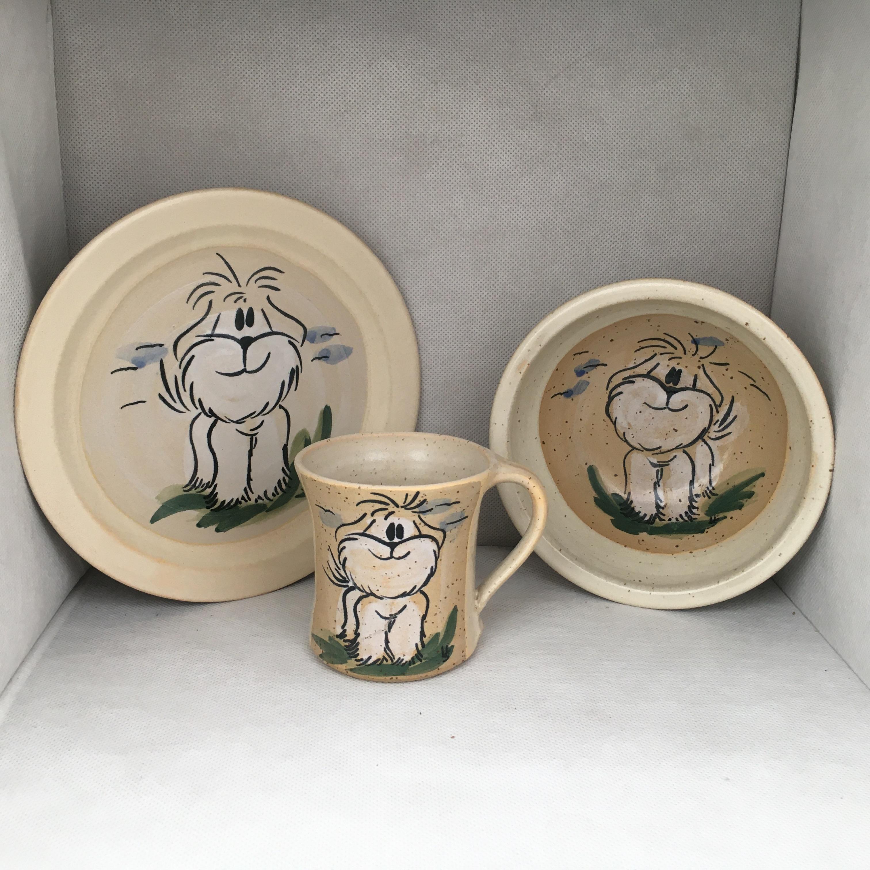 Hunde SET: Tasse-Teller-Müslischale
