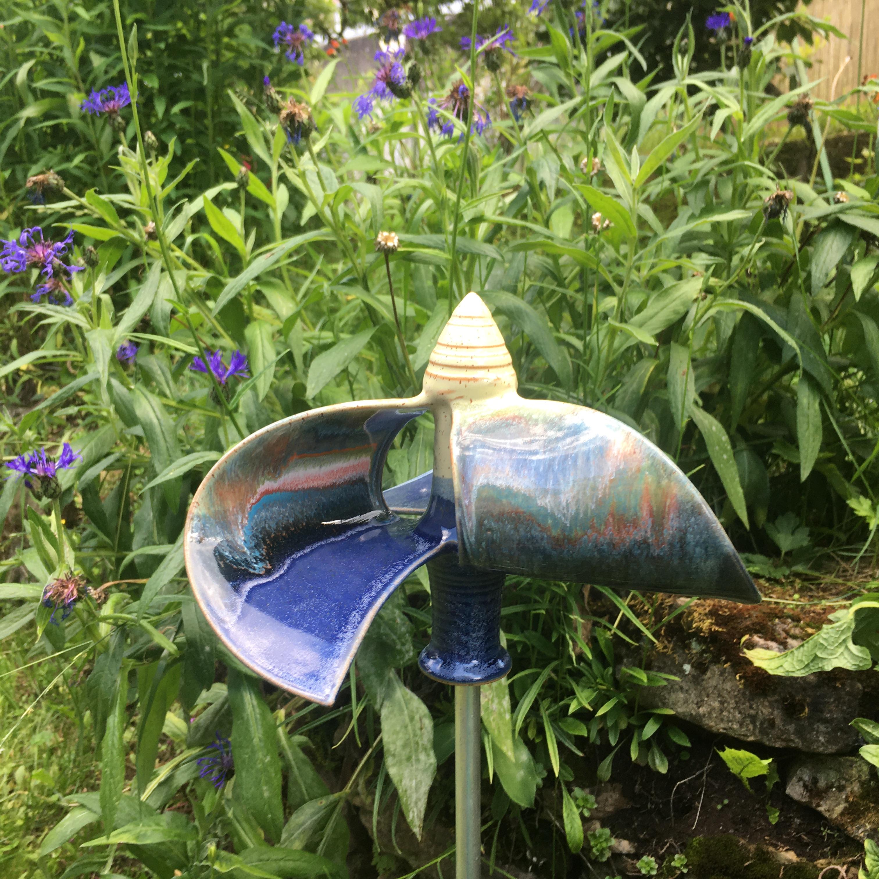 Windmühle stehend blau/ gelb