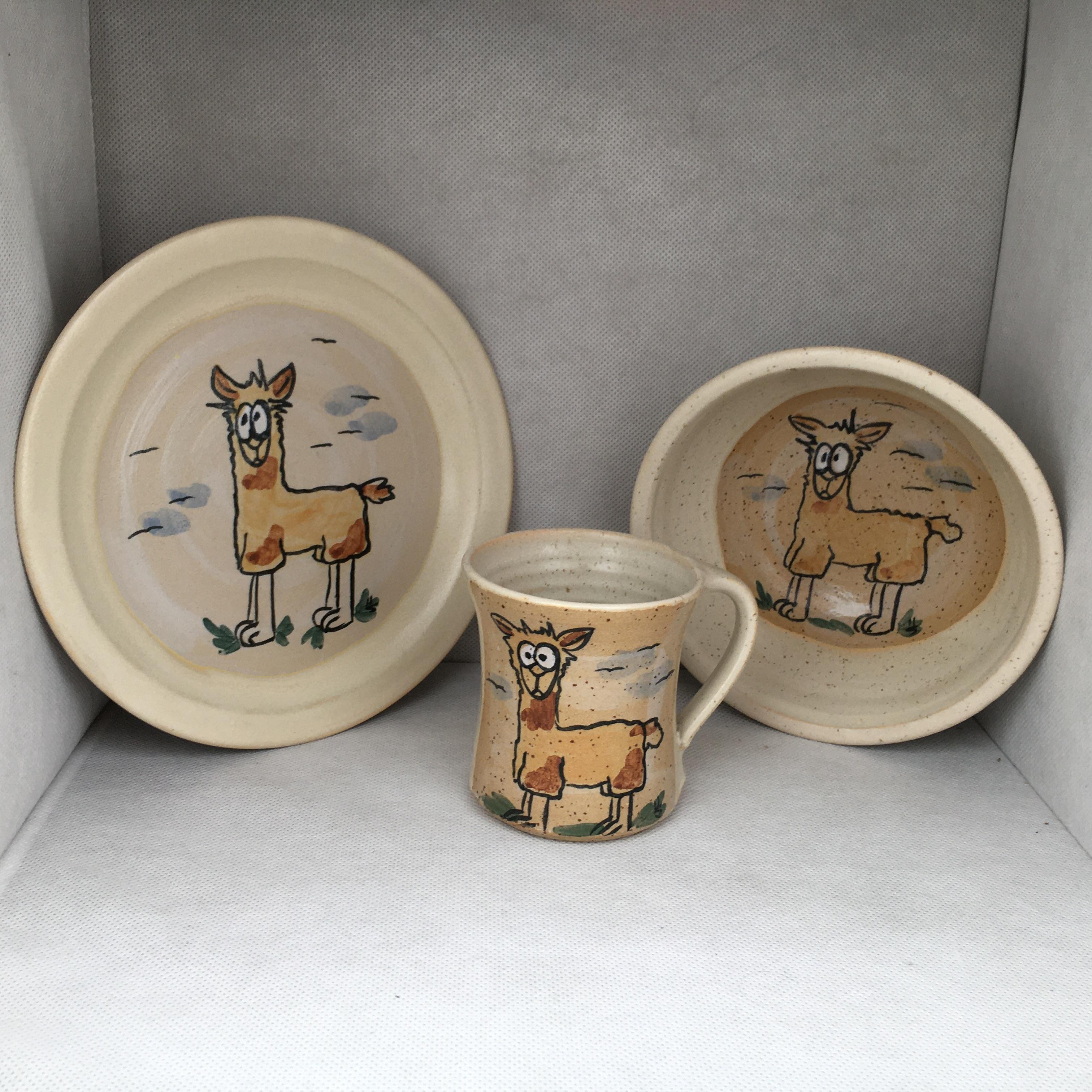 Lama SET: Tasse-Teller-Müslischale